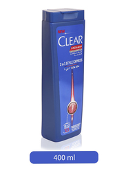 Clear Men's Style Express 2-in-1 Anti-Dandruff Shampoo for All Hair Types, 400ml