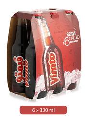 Vimto Sparkling Fruit Flavor Soft Drink, 6 Bottles x 330ml