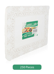 Falcon 250-Pieces Rectangle Doyley Papers, 36 x 25 cm, White