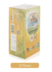 Royal Blend Chamomile & Anise Pure & Natural Herbal Tea, 25 Tea Bags x 2g