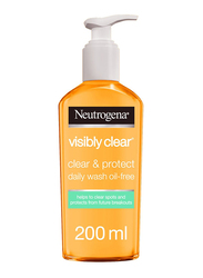 Neutrogena Visibly Clear Facial Wash, Clear & Protect & Oil-free, 200ml
