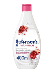 Johnson's Vita-Rich Brightening Body Lotion with Pomegranate Flower Extract, 400ml