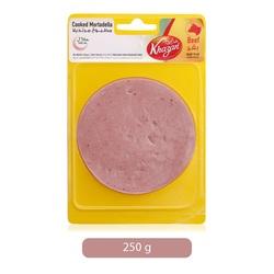 Khazan Mortadella Beef Plain Sliced, 250 g
