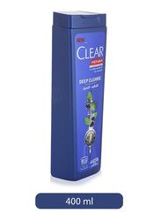 Clear Men's Deep Cleanse Anti-Dandruff Shampoo for Oily Hair, 400ml