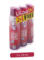 Habro Toilet Seat Sanitizer Spray, 3 Pieces x 150ml