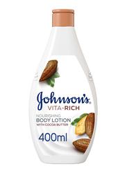 Johnson's Vita-Rich Nourishing Body Lotion with Cocoa Butter, 400ml