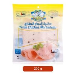 Al Rawdah Fresh Chicken Mortadella with Black Pepper, 200 grams
