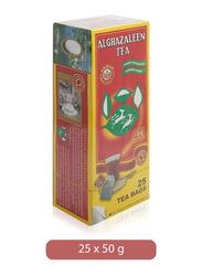 Alghazaleen Pure Ceylon Black Tea, 25 Tea Bags x 2g