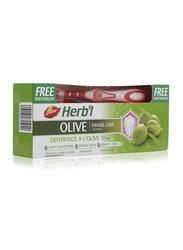 Dabur Herbal Olive Toothpaste & Toothbrush, 2 Piece, 150gm