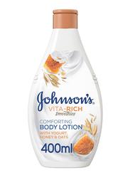 Johnson's Vita-Rich Smoothies Comforting Body Lotion with Yogurt/Honey/Oats, 400ml
