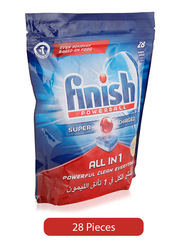 Finish All in 1 Lemon Powerball Dishwasher Detergent, 28 Tablets
