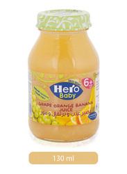 Hero Baby Grape, Orange & Banana Juice, 130ml