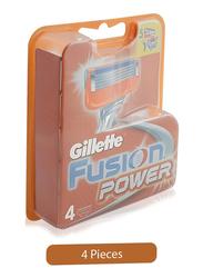 Gillette Fusion Power Razor Blades for Men, 4 Pieces