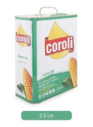 Coroli Corn Cooking Oil Tin, 2.5 Liter
