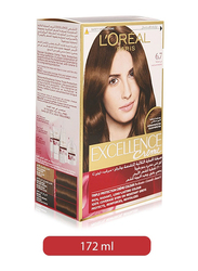 L'Oreal Paris Excellence Creme Hair Color for All Hair Type, 6.7 Chocolate Brown, 192ml