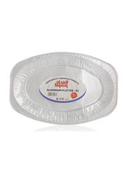 Union 5-Pieces V2 Super Quality Disposable Aluminum Oval Platter, White