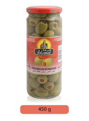 Figaro Green Olives with Pimento Paste, 450g