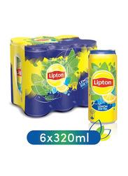 Lipton Lemon Non-Carbonated Ice Tea Drink, 6 Cans x 320ml