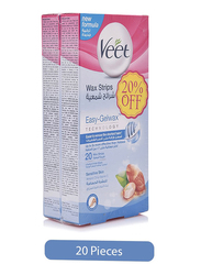 Veet Dry Skin Easy Grip Wax Strips, 20 Strips, 2 Pieces