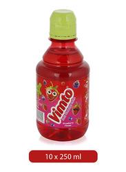 Vimto Strawberry Fruit Flavored Juice Drink, 10 Bottles x 250ml