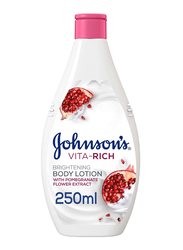 Johnson's Vita-Rich Brightening Body Lotion with Pomegranate Flower Extract, 250ml