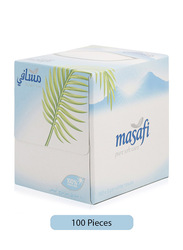 Masafi Pure Soft Care White Facial Tissues, 100 Sheets x 2 Ply