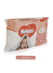 Huggies Soft Skin Baby Wipes for Babies, 56 Pieces