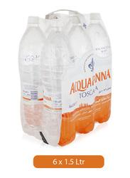 Acqua Panna Toscana Natural Mineral Water, 6 Bottles x 1.5 Liter