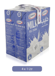Unikai Full Cream Milk, 4 x 1 Liter