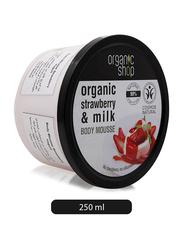 Organic Shop Strawberry & Milk Body Mousse, 250ml