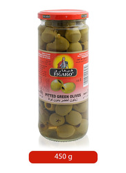 Figaro Pitted Green Olives Pickles, 450g