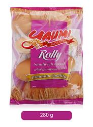 Yaumi Plain Rolly Sandwich Bread, 4 Pieces, 280g