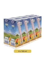 Lacnor Essentials Mango Fruit Juice Drink, 8 x 180ml