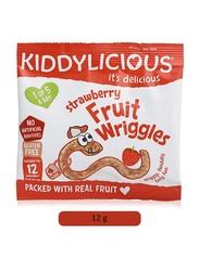 Kiddylicious Strawberry Fruit Wriggles, 12g