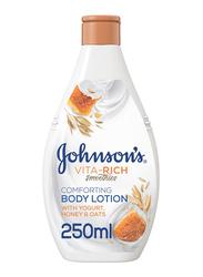 Johnson's Vita-Rich Smoothies Comforting Body Lotion with Yogurt/Honey/Oats, 250ml