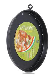 Union Antiaderente Non-Stick Stainless Steel Round Pizza Pan, Black