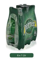 Perrier Natural Mineral Water, 6 Bottles x 1 Liter