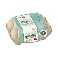 Dava Medium/Large Eggs Organic Free Range, 6 Eggs