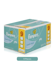 Pampers 9-Piece Fresh Wipes for Babies, 64 Sheets