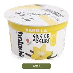 Balade Greek Yoghurt Vanilla Low Fat, 180 grams