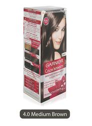 Garnier Color Intensity Intense Permanent Color Cream, 4.0 Medium Brown, 100ml