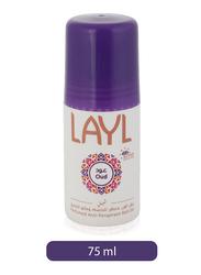 Layl Oud Antiperspirants Deodorants Roll-On for Women, 75ml