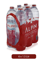 Alpin Natural Mineral Water, 6 Bottles x 1.5 Liter