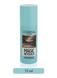 L'Oreal Paris Magic Retouch Instant Root Concealer Spray for All Hair Types, 75ml, Brown