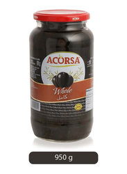 Acorsa Whole Black Olives, 950g