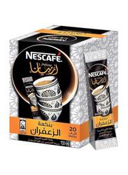 Nescafe Arabiana Instant Arabic Coffee with Saffron, 20 Sticks x 3g