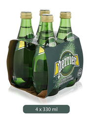 Perrier Mineral Water, 4 Bottles x 330ml