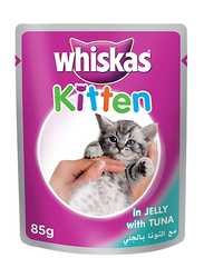 Whiskas Kitten in Jelly with Tuna Pouch Wet Cat Food, 24 Pouches x 85 grams