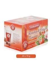 Teekanne Rosehip and Hibiscus Flowers Tea Bags, 20 Tea Bags x 70g