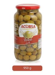 Acorsagreen Whole Olives, 950g